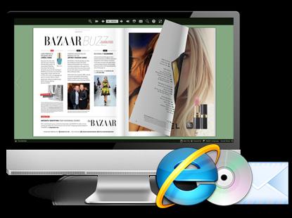 016fc655c El digital catálogo en línea también puede ser insertado en su propia  página web de negocio fácilmente.